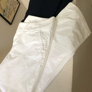 JCrew white chino pants